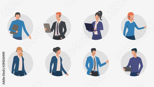 Foto Business people making phone calls