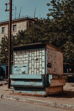 Old Abandoned Small Kiosk Store