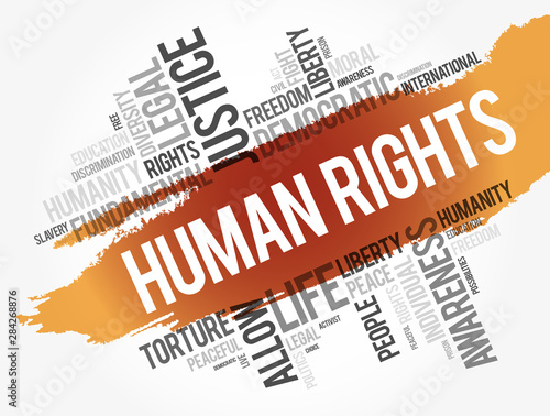 Human rights word cloud collage, social concept background Fototapeta