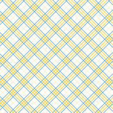 Tartan Seamless Yellow And Whi...