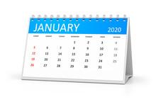 Table Calendar 2020 January