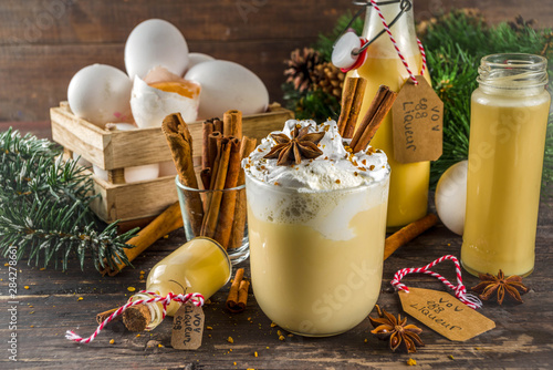 Poster Ouest sauvage Christmas Bombardino cocktail with egg liqueur