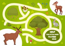 Maze Game For Children. Forest...