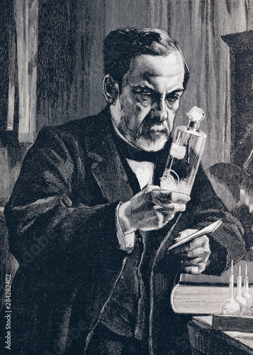 Louis Pasteur - Illustration from 1894 Fototapete