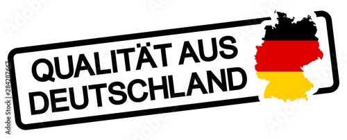 black stamp with text quality from germany Canvas Print