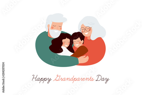 Photo Happy Grandparents Day greeting card