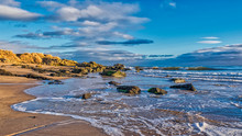 Dornoch Beach With The Tide Coming In