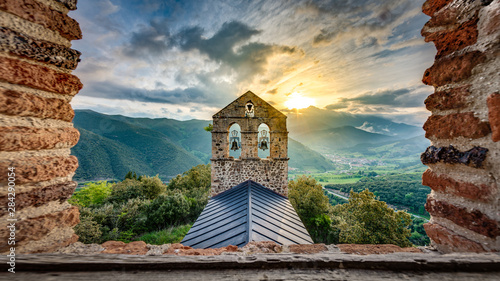 Photo San Miguel Hermitage near Potes, Cantabria, Spain.