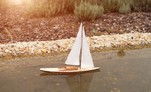 Model Sailboat On The Garden L...