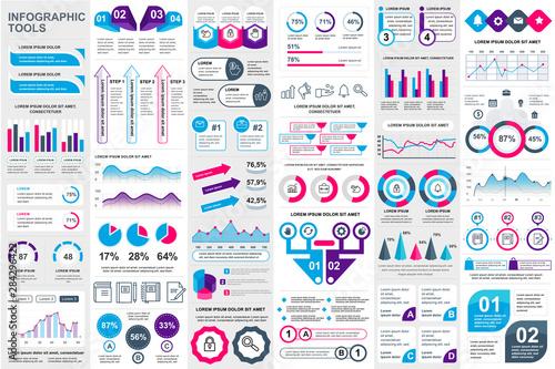 Carta da parati  Infographic elements data visualization vector design template
