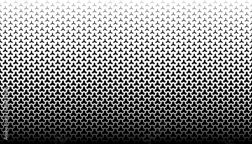 obraz dibond Seamless geometric vector background.Black figures on white background.