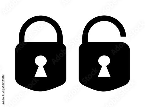 Photo  lock and unlock icon