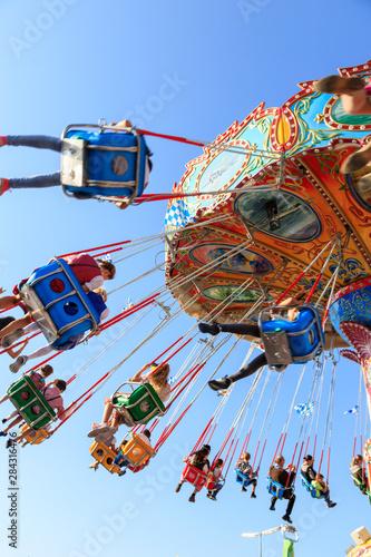 Leinwand Poster carousel at the Oktoberfest in Munich