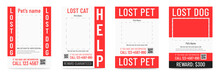 Lost Cat Pr Dog Poster, Missing Pet Banner Template