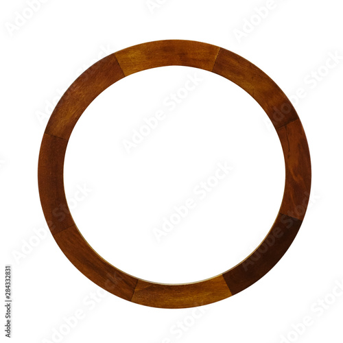 round brown frame isolated on white background Fototapete
