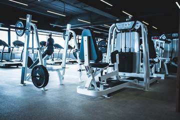 gym interior with equipment.fitness center interior