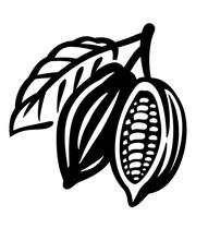 Cocoa Beans Black Icon On White