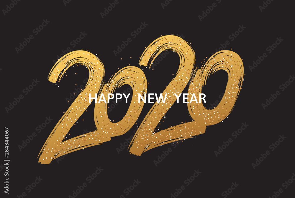 Fototapeta 2020 New Year cart. 2020 New Year.