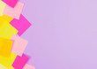 Bright stickers on a lilac background. A place for your design.