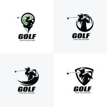 Set Of Golf Logo Design Templates
