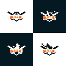 Set Of Baseball Logo Design Templates