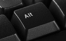 Alt Option Symbol Keyboard Key Button  Background And Texture, Side View
