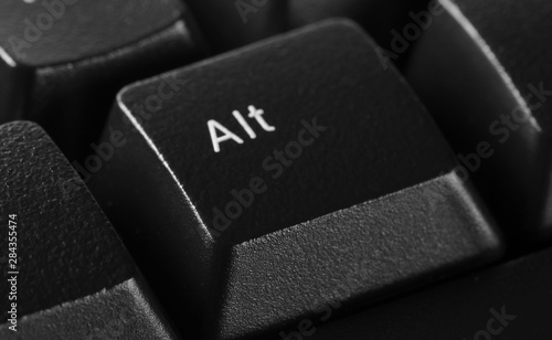 Alt option symbol keyboard key button  background and texture, side view Wallpaper Mural