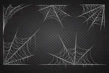 Cobweb Set, Isolated On Black ...