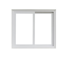 Real Modern House Window Frame Isolated On White Background