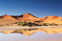 Namibia, Sossusvlei Region, Sand Dunes At Desert
