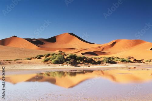 Namibia, Sossusvlei Region, Sand Dunes at desert - 284363047