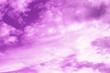 Leinwandbild Motiv Purple sky and white cloudy background. Beautiful and bright colors.