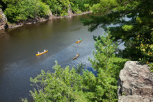Canoes On The St Croix River V...