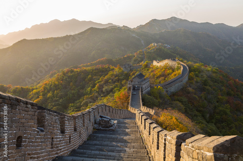 Fotografie, Obraz  The Great Wall at Mutianyu near Beijing in Hebei Province, China