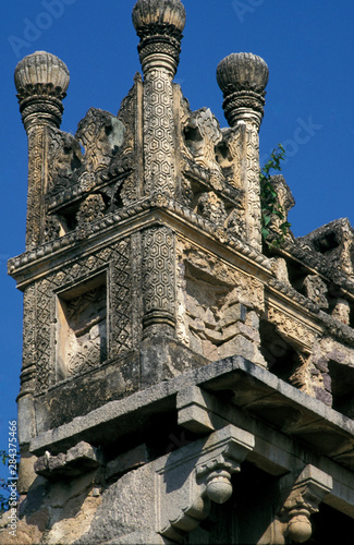 Fotografie, Obraz Asia, India, Hyderabad. Ruins of Golconda Fort.
