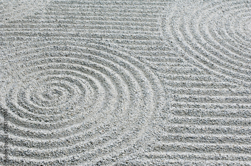 Photo Stands Zen Japan, Kyoto, Tofukuji Temple, Pattern in Sand