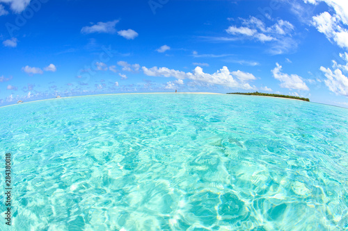Obraz na plátně  Kadhdhoo Island, Laamu Atoll, Southern Maldives, Indian Ocean
