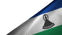 Lesotho Flag Right Side With B...
