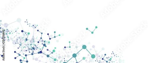 Canvastavla  sfondo, texture, molecole, elementi, chimica, biologia,
