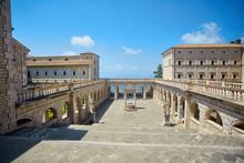 Large Courtyard Of The Catholic Monastery