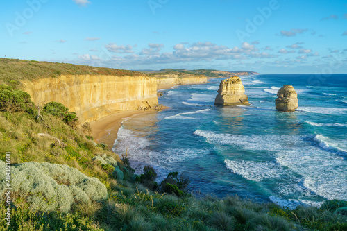 Spoed Foto op Canvas Oceanië sunset at gibson steps, great ocean road at port campbell, australia 1