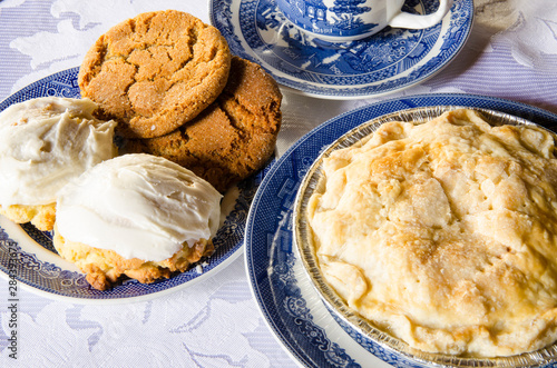 Apple pie and cookies at Fort Saint James National Historic Site, British Columbia, Canada.