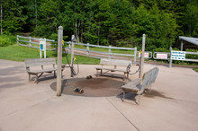 Canada, New Brunswick, Hopewell Cape, Bay Of Fundy. Hopewell Rocks Visitor Center, Boot Washing Station.