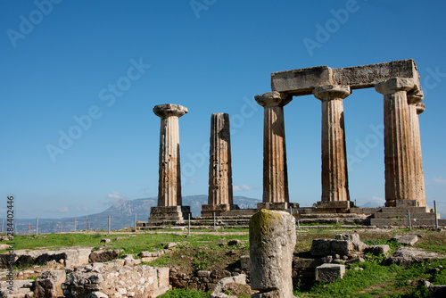 Greece, Corinth, Ancient Corinth Fototapete