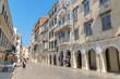 Shopping area, Old Town, Corfu, Greece, Europe