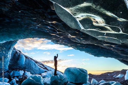 Carta da parati Glacial Ice Cave, Svinafellsjokull glacier, Skaftafell National Park, Iceland