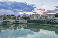 Italy, Rome, Tiber River And P...