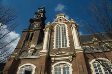 The Netherlands (aka Holland), Amsterdam. Westerkerk (aka West Church) 17th Century Church Where Rembrandt Is Buried.