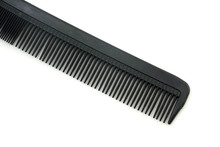 Black Hair Comb Isolated On Wh...