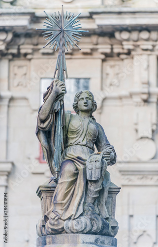 Foto op Aluminium Historisch geb. Spain, Santiago de Compostela, Statue at Praza das Praterias